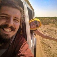 Viajando en camioneta en India