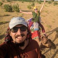 Viajando en camello en el Rajastan