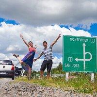 Viajando en auto en Uruguay