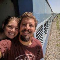 Viajando en tren en India