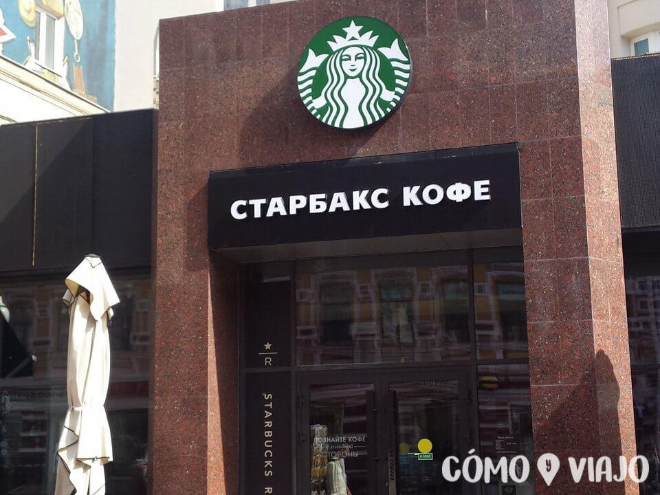 Starbucks en ruso
