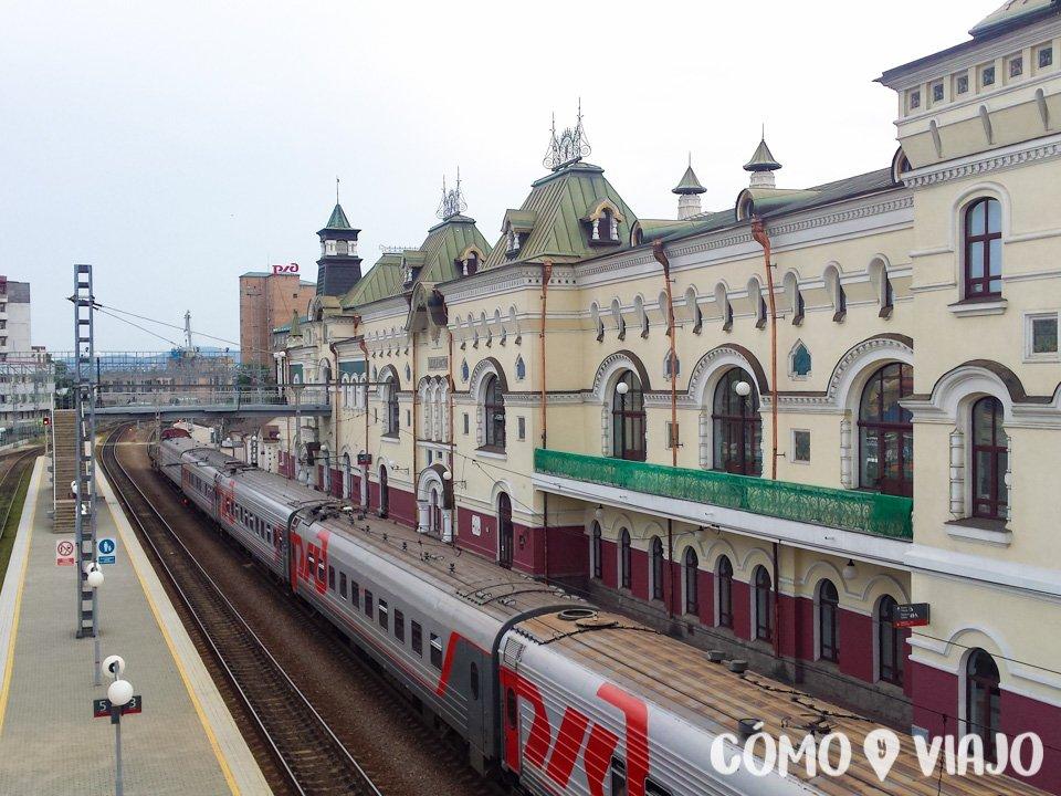 Estación de trenes de la ciudad de Vladivostok