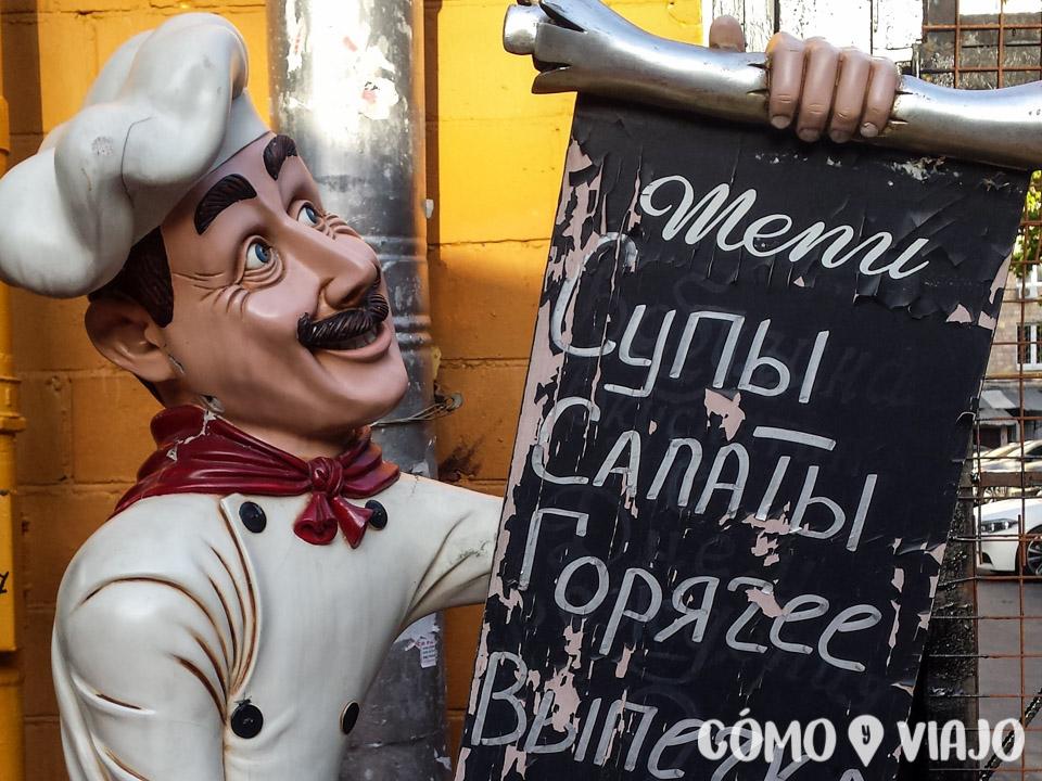 Menu en Rusia