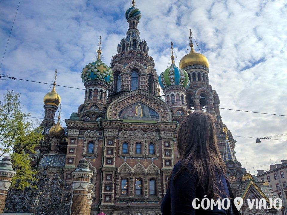 En la Iglesia de la Sangre Derramada de San Petersburgo