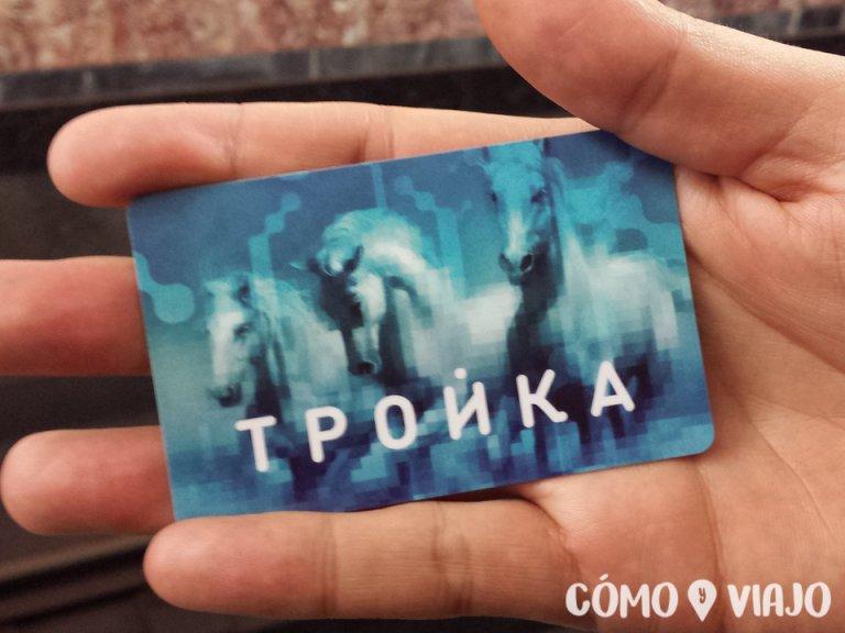Troika tarjeta del sistema de metro de Moscu