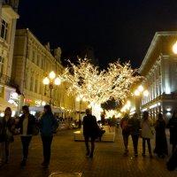 Peatonal Arbat en Moscu