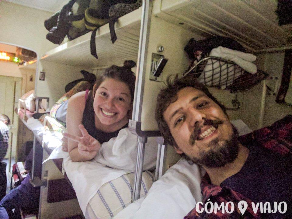 Viajando en tren hacia Moscu