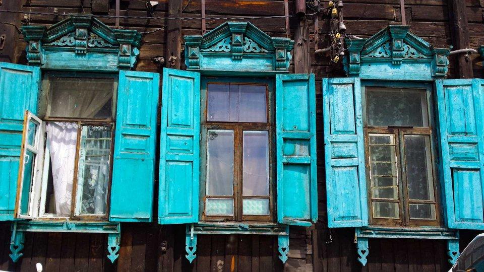 Casas tipicas de Ulan Ude
