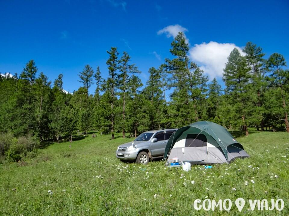 Acampando en Mongolia
