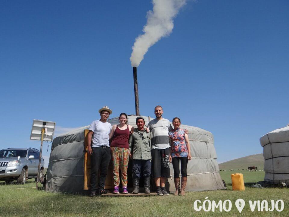 Compartiendo con una familia en Mongolia
