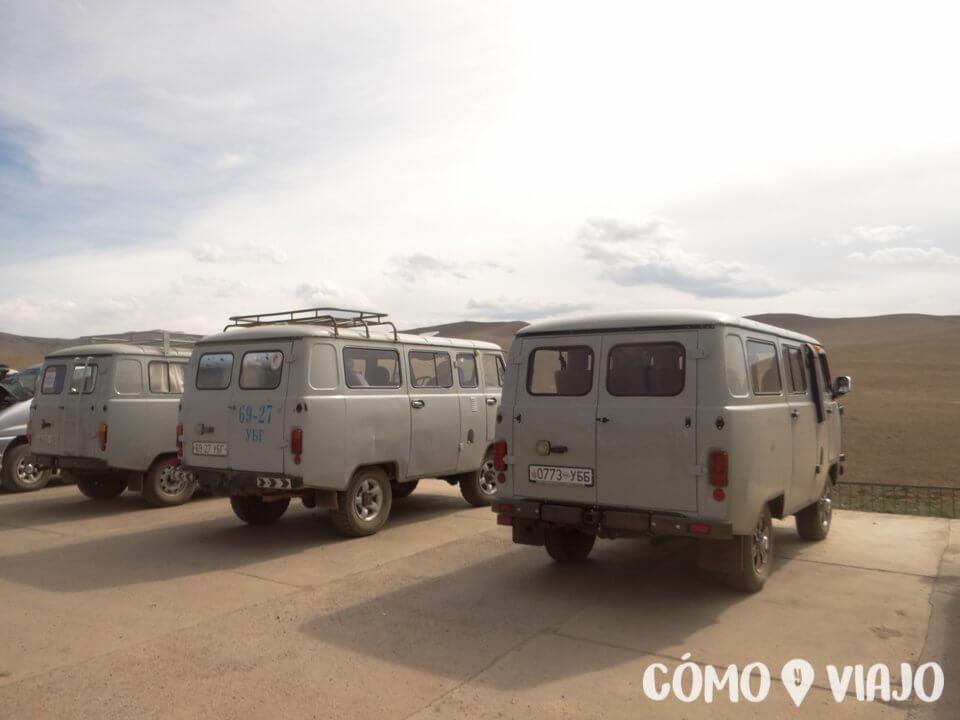 Las russian van de los tours de Mongolia