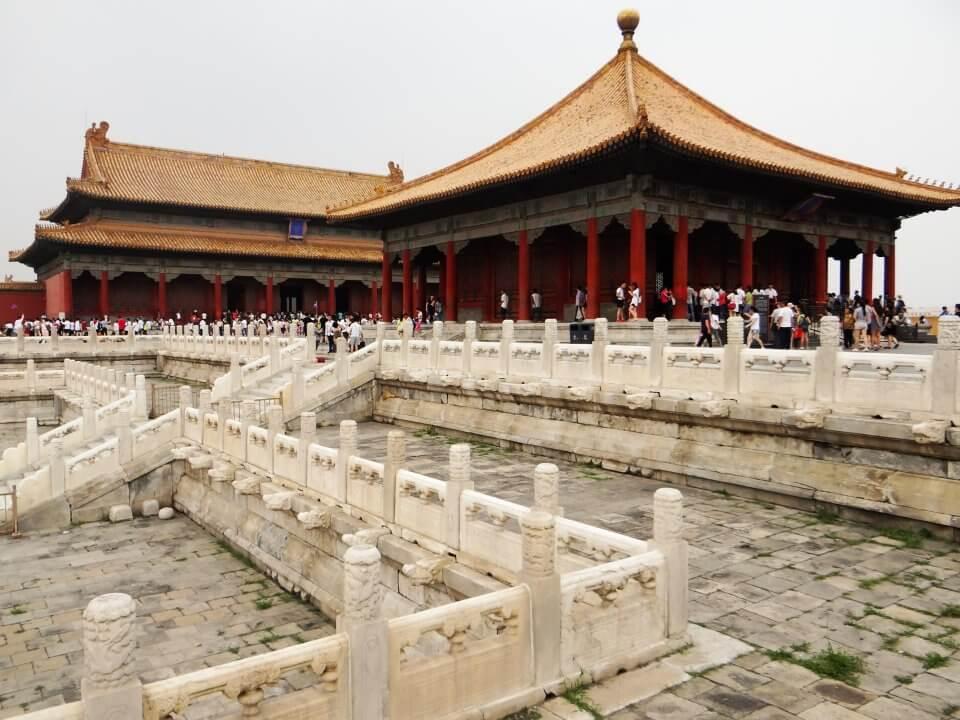 Dentro de la Ciudad Prohibida de Beijing, China