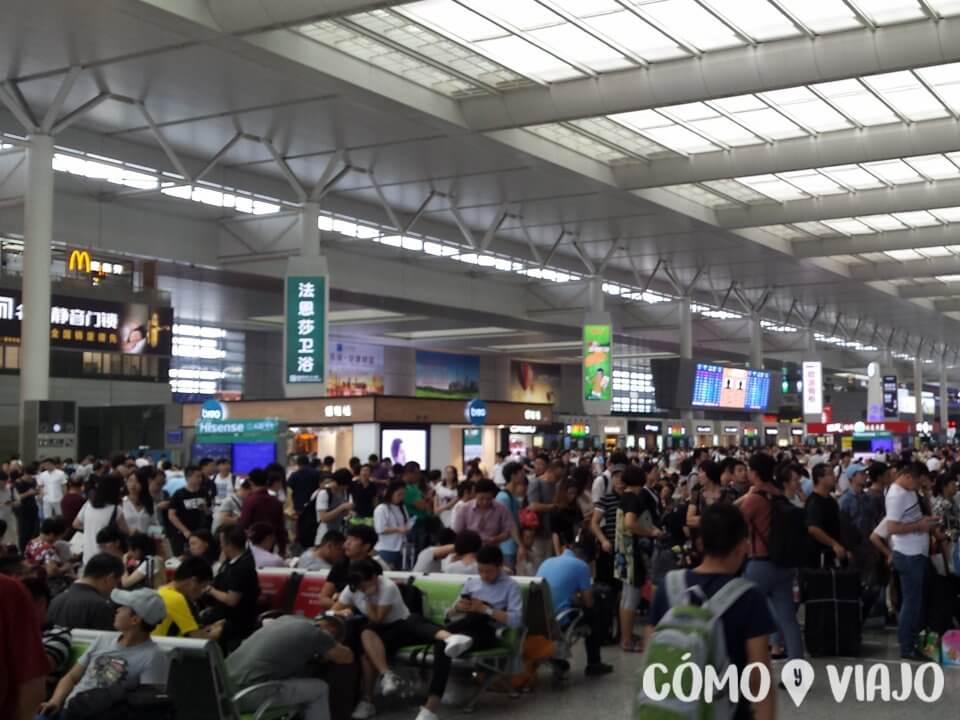 Estación de trenes en China