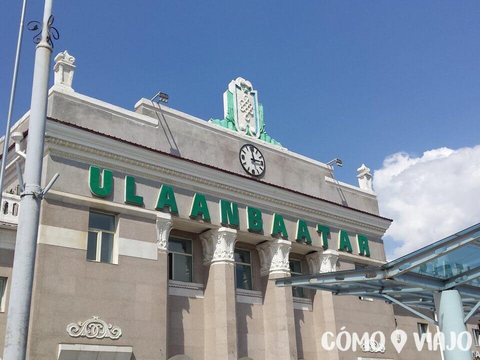 Estación de trenes de Ulán Bator en Mongolia
