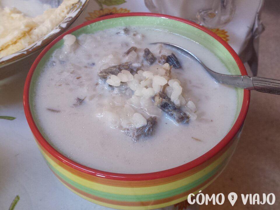 Arroz con carne y leche en Mongolia