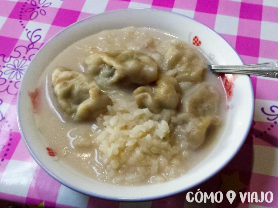 Dumplings caseros en Mongolia