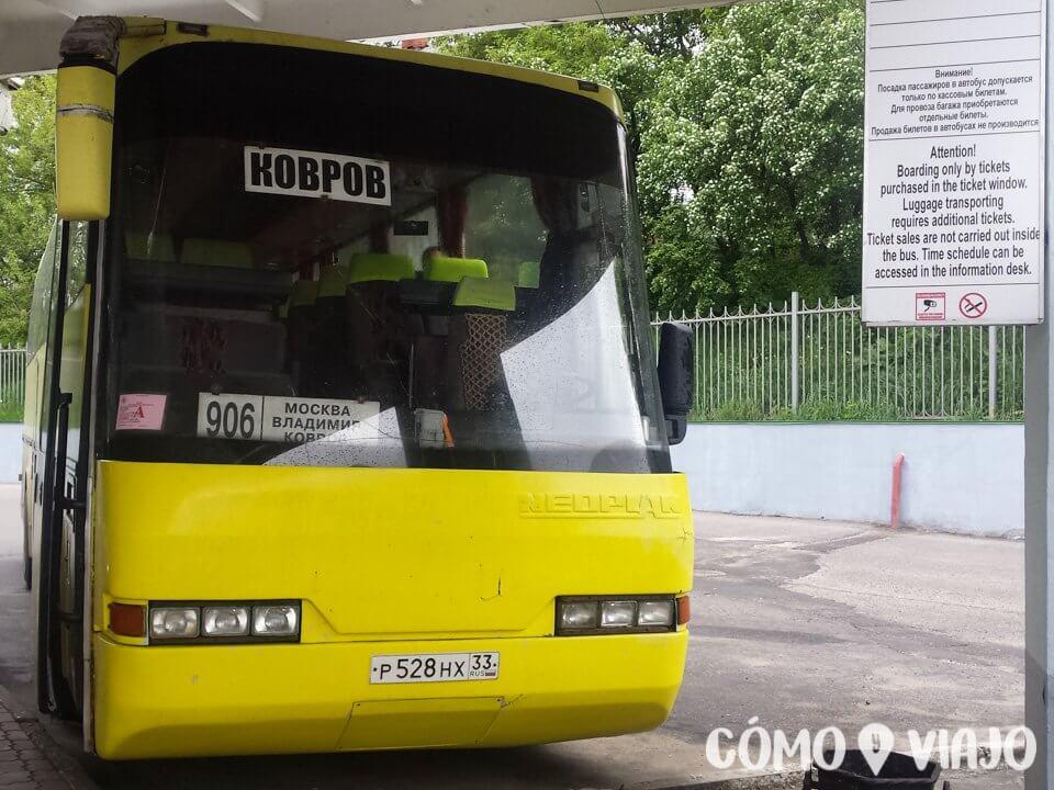 Bus de Moscú a Vladimir