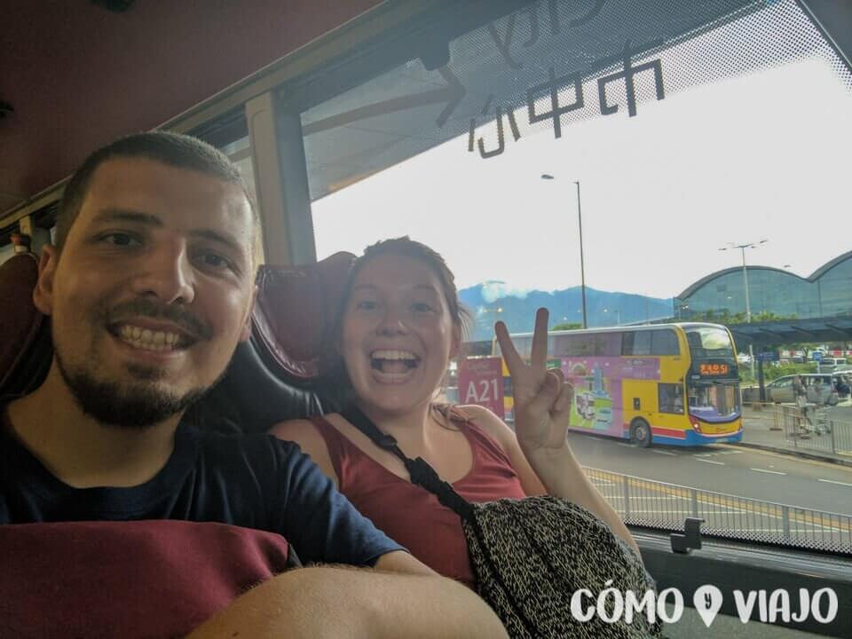 En bus del aeropuerto a la ciudad