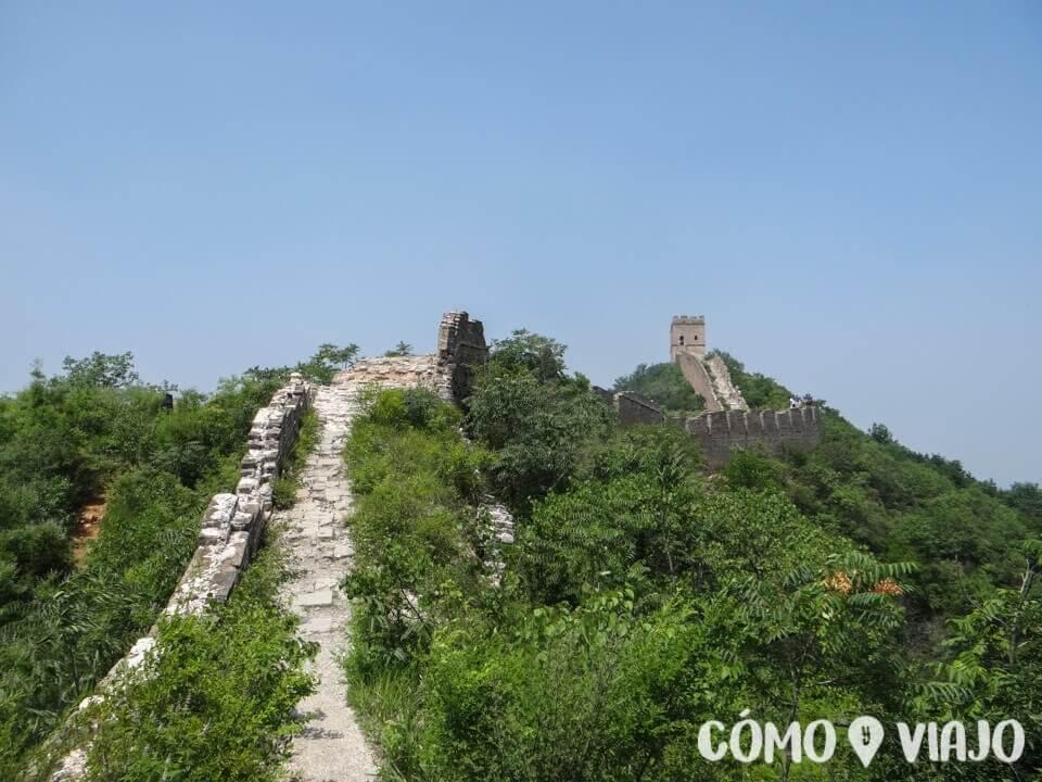 La Gran Muralla China entre Simatai y Jingshaling