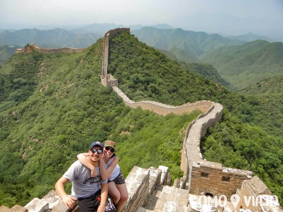 Vista de la Gran Muralla China entre Simatai y Jingshaling