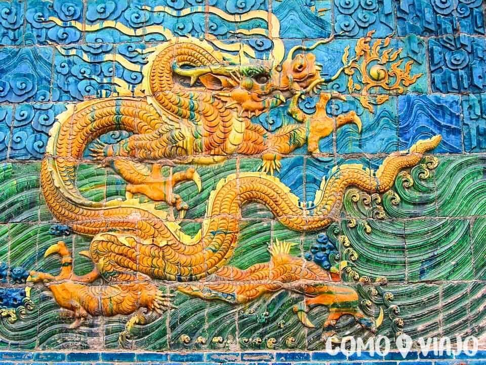 Muro de los 9 Dragones, un lugar que ver en Datong