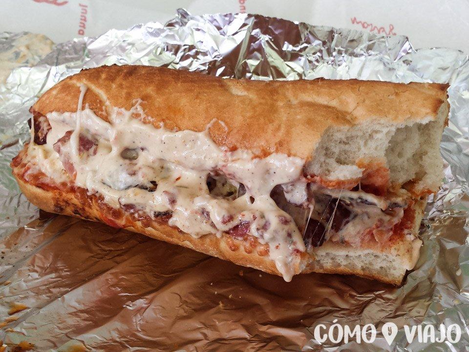 Un exqusito sandwich en la ciudad de Kazan