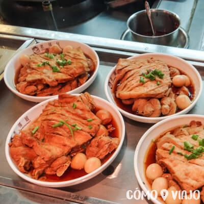 Carnes de la comida china