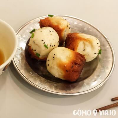 Qué comer en China: Dumplings fritos