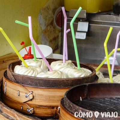 Comida China en China: Dumplings con sopa