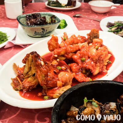 Pescados de la comida china