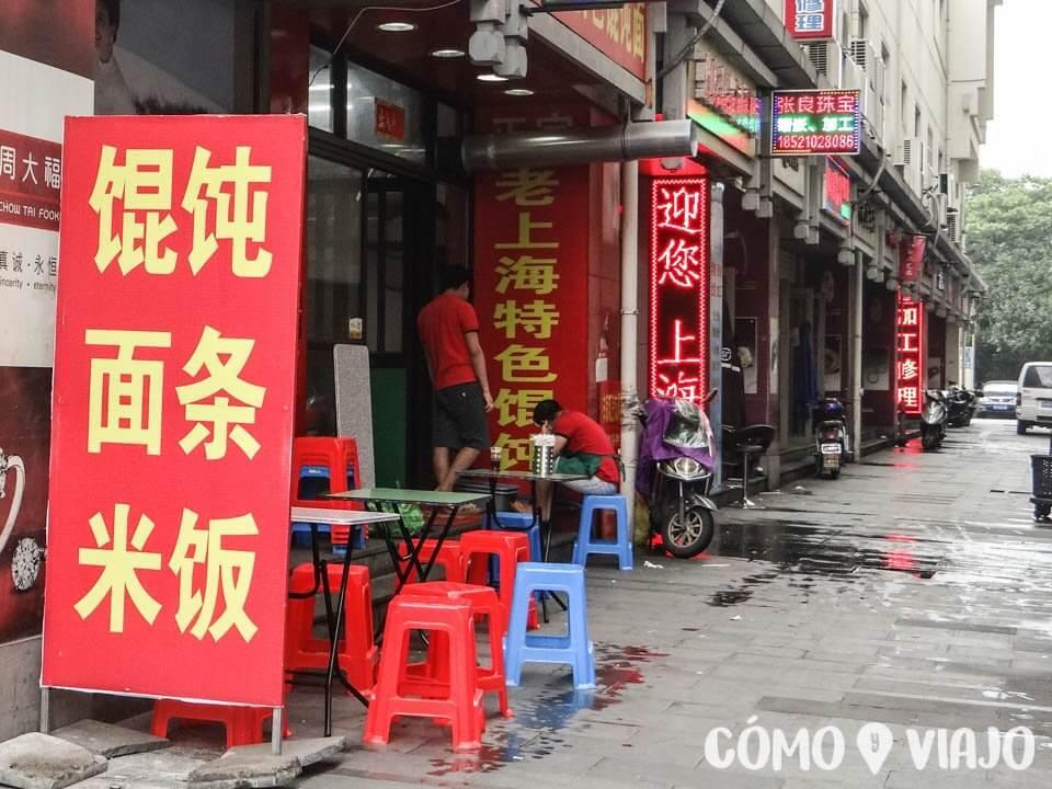 Dónde comer comida china en China: Locales semi-establecidos