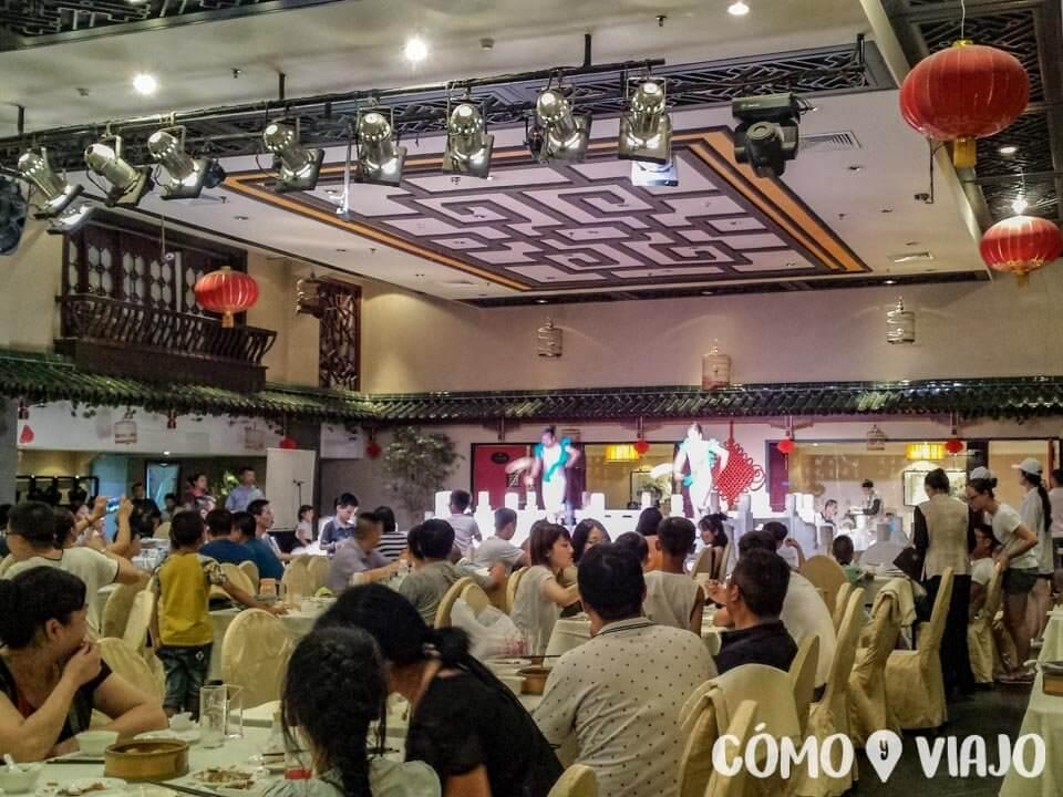 Dónde comer comida china en China: Restaurante turístico