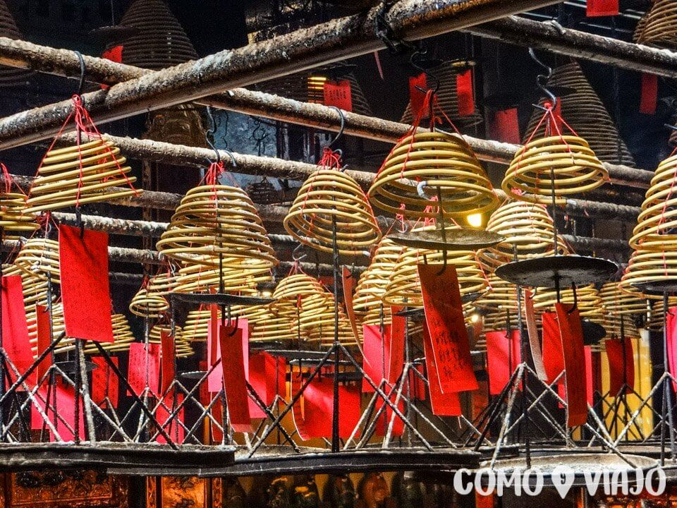 Man Mo Temple en Hong Kong