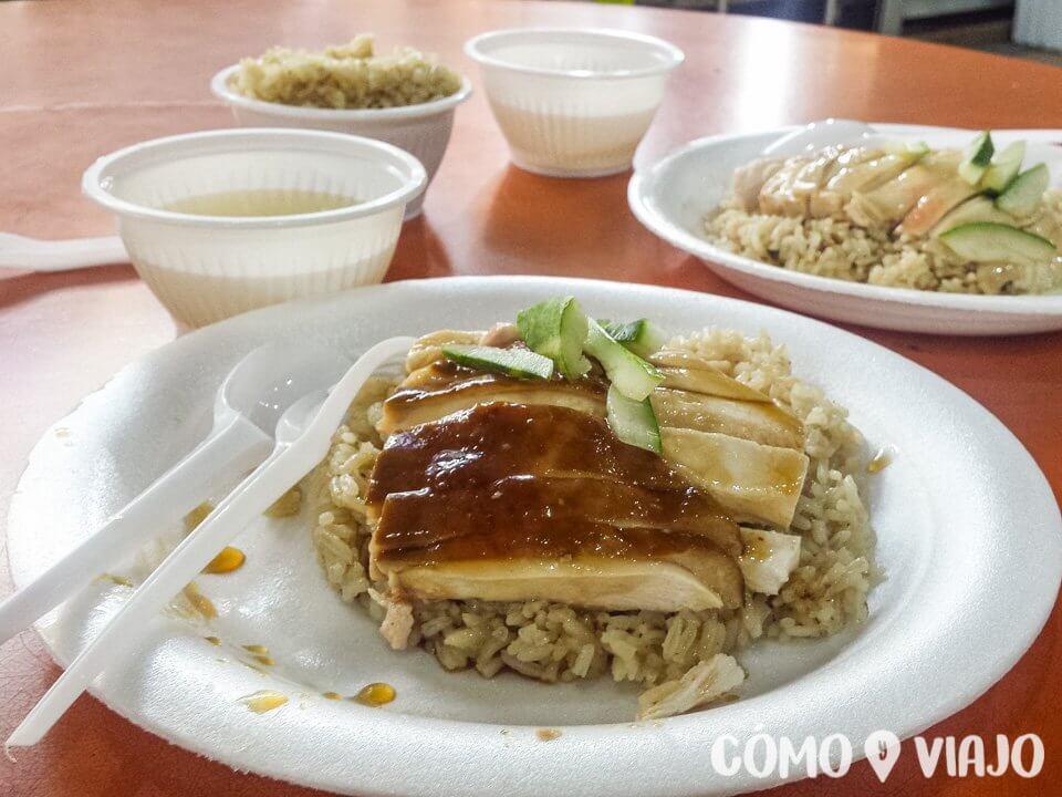 Dónde comer haianese chicken en Singapur