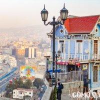 Casas de colores en Valparaíso