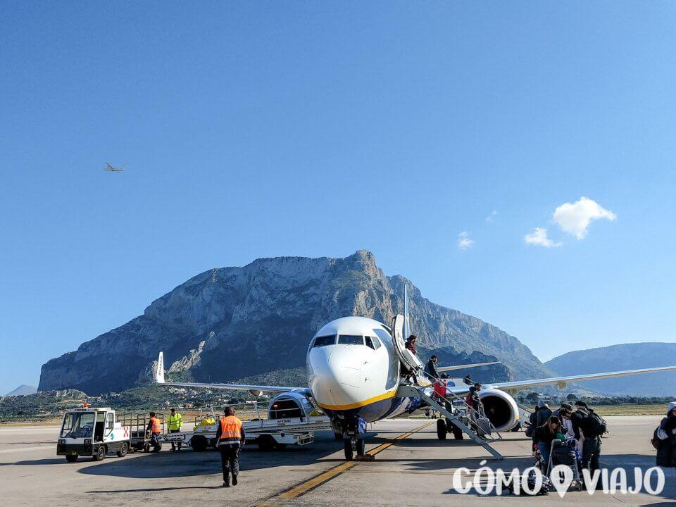 Cómo viajar a Sicilia cómo llegar en avión