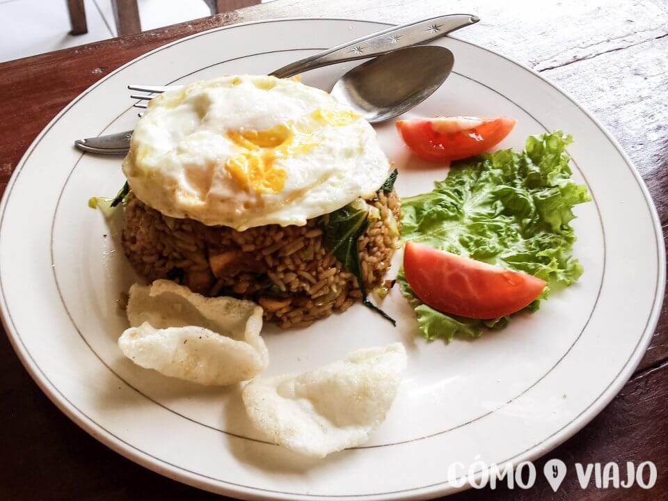Comer en Ubud, Bali