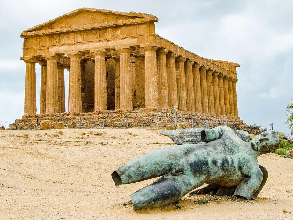 Ruinas de Agrigento en Sicilia