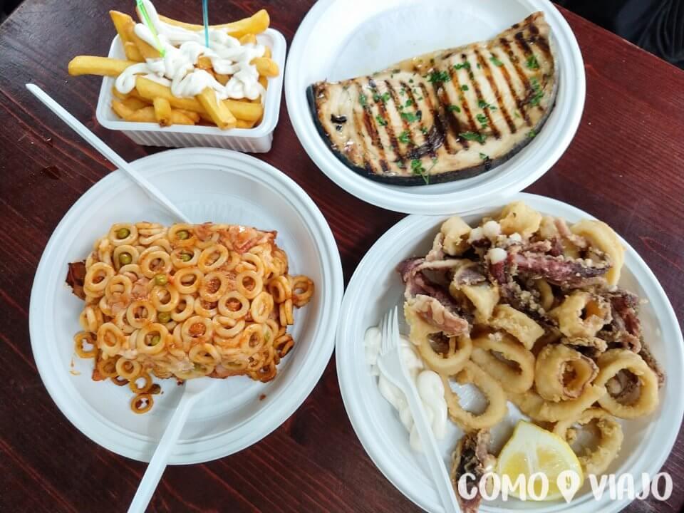 Comer en Palermo