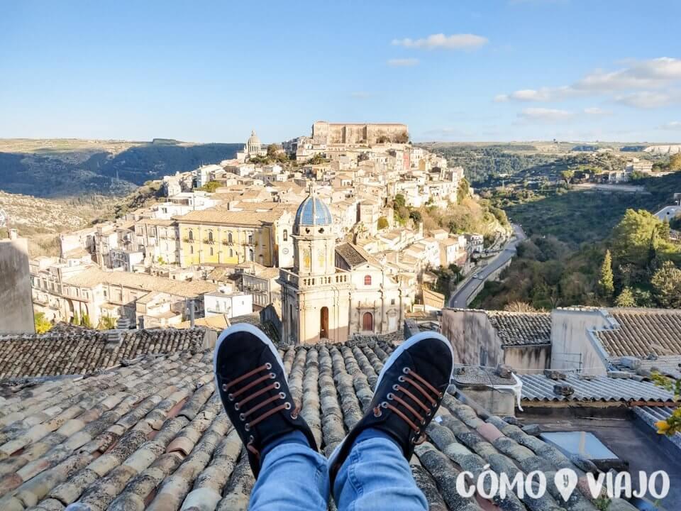 Vista de Ragusa, en Sicilia
