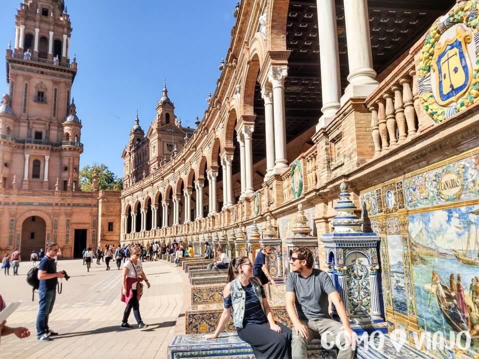 En la Plaza de España, Sevilla, sur de España