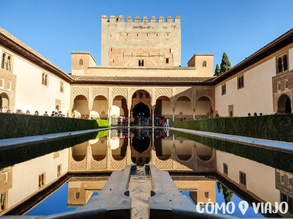 Interior de la Alhambra en Granada